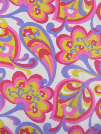stoff flower power kittel kleiderstoff 70er 92cm x 310cm vintage fabric ebay. Black Bedroom Furniture Sets. Home Design Ideas
